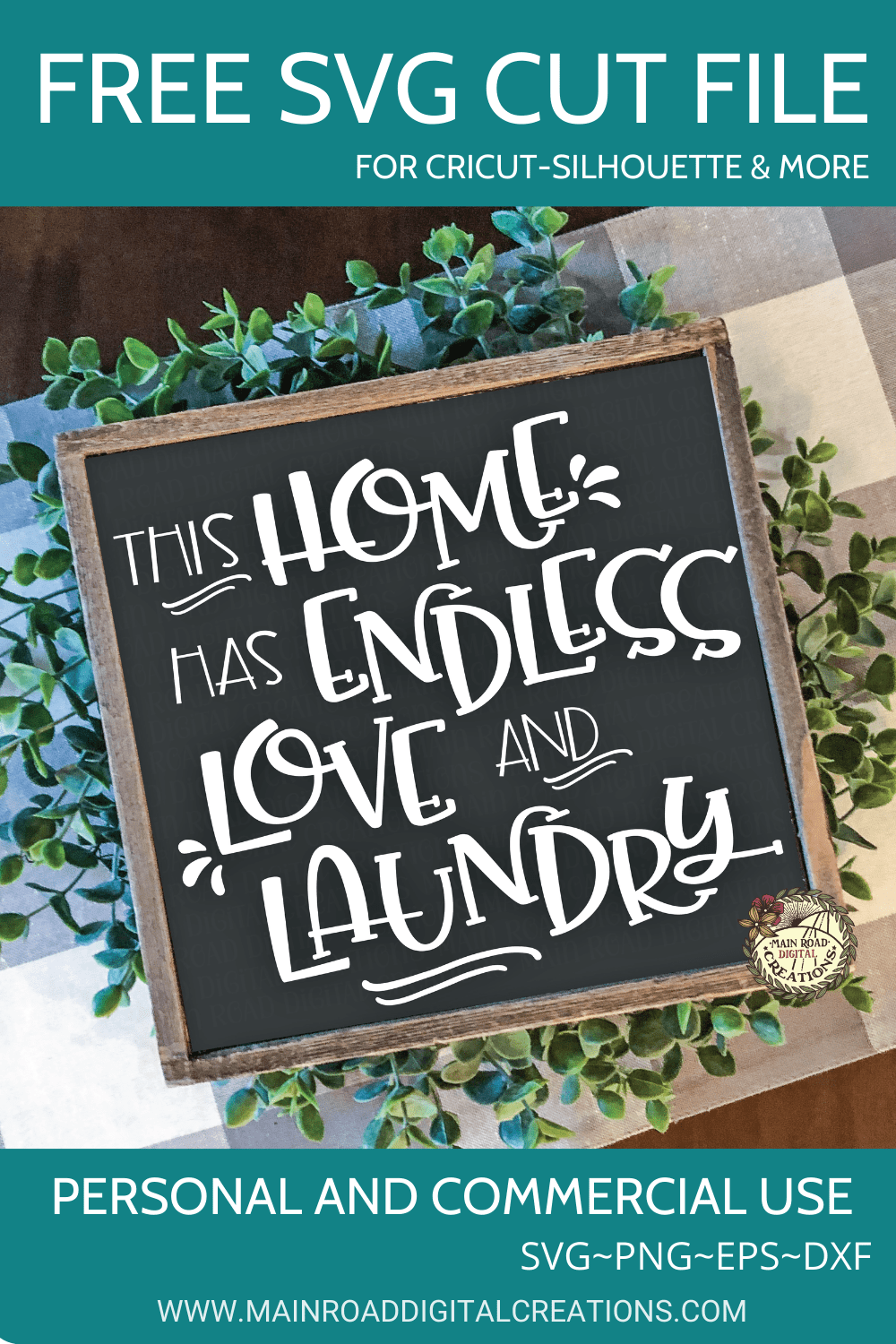 Home and Laundry sign free svg