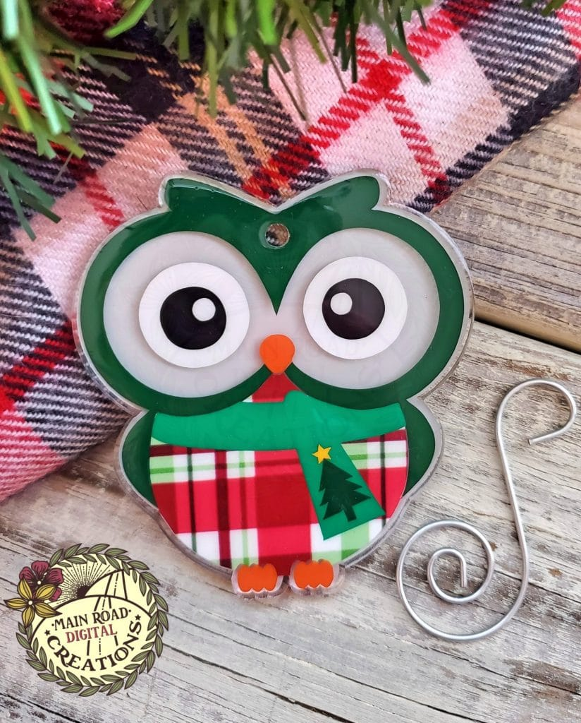 owl acrylic shape, free owl svg, owl ornament svg, vinyl projects