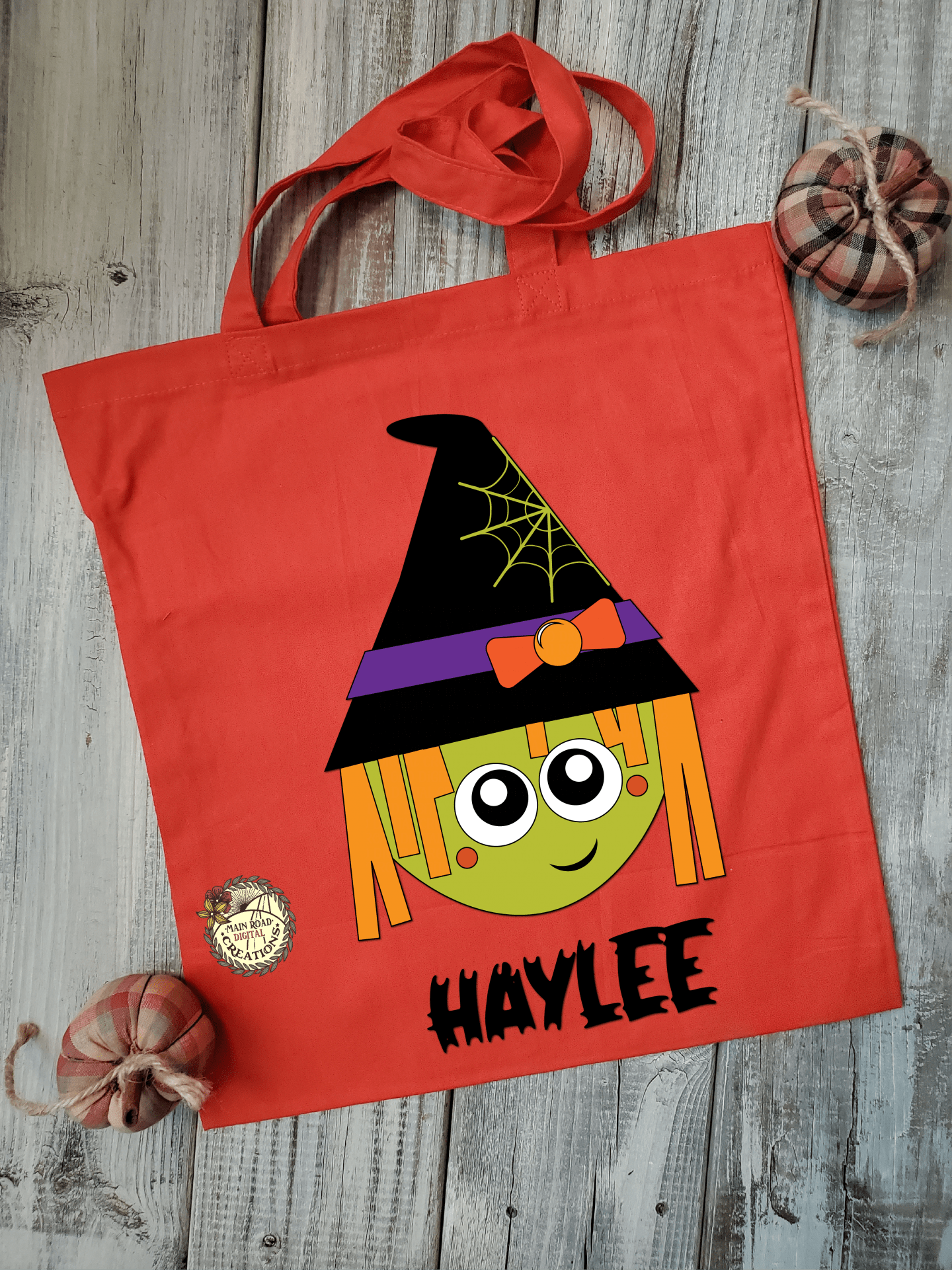 cute witch Halloween svg, witch design for kids, trick-or-treat bag design, Halloween cut files for Cricut, vinyl projects, diy Halloween treat bags
