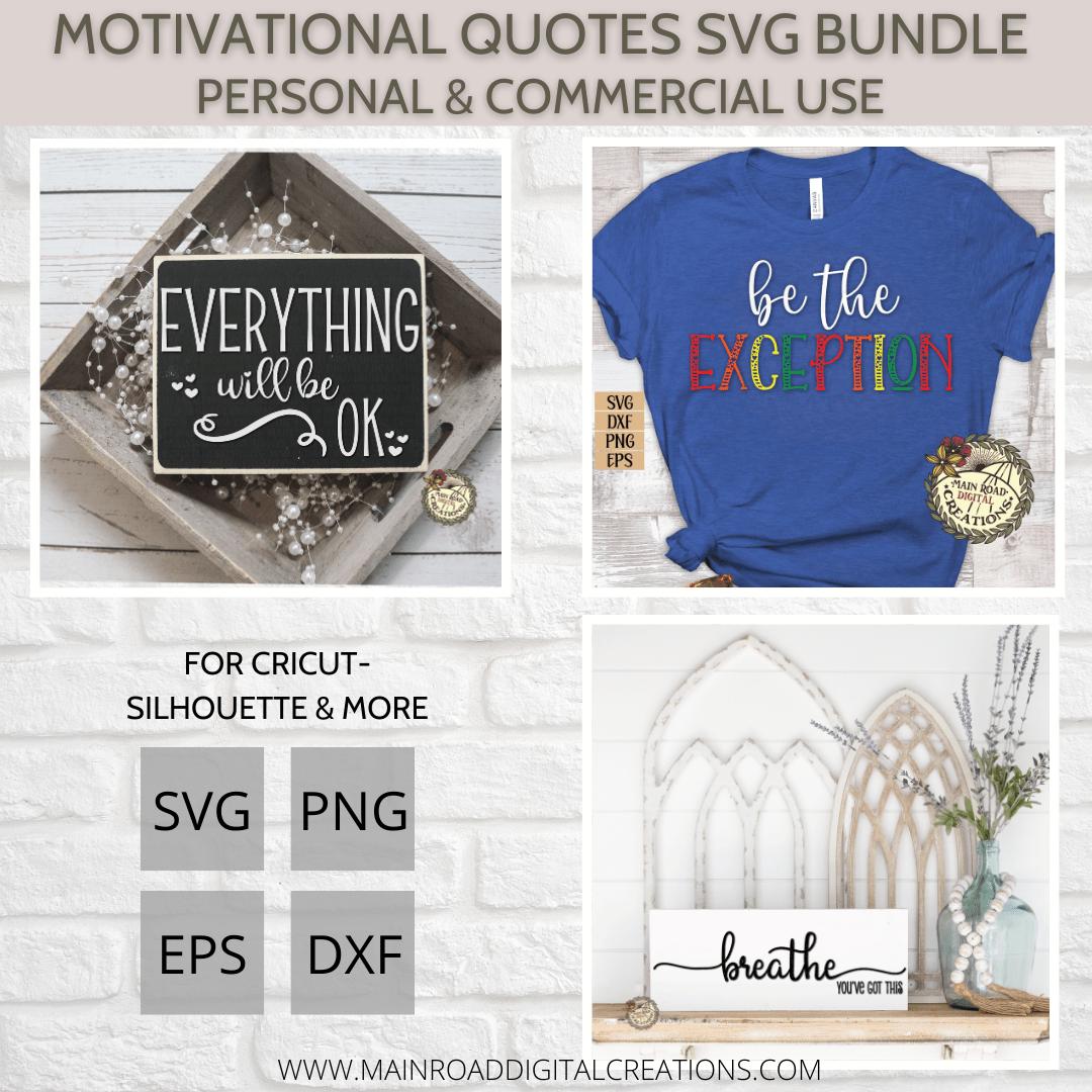 Motivational quotes svg bundle design bundles show