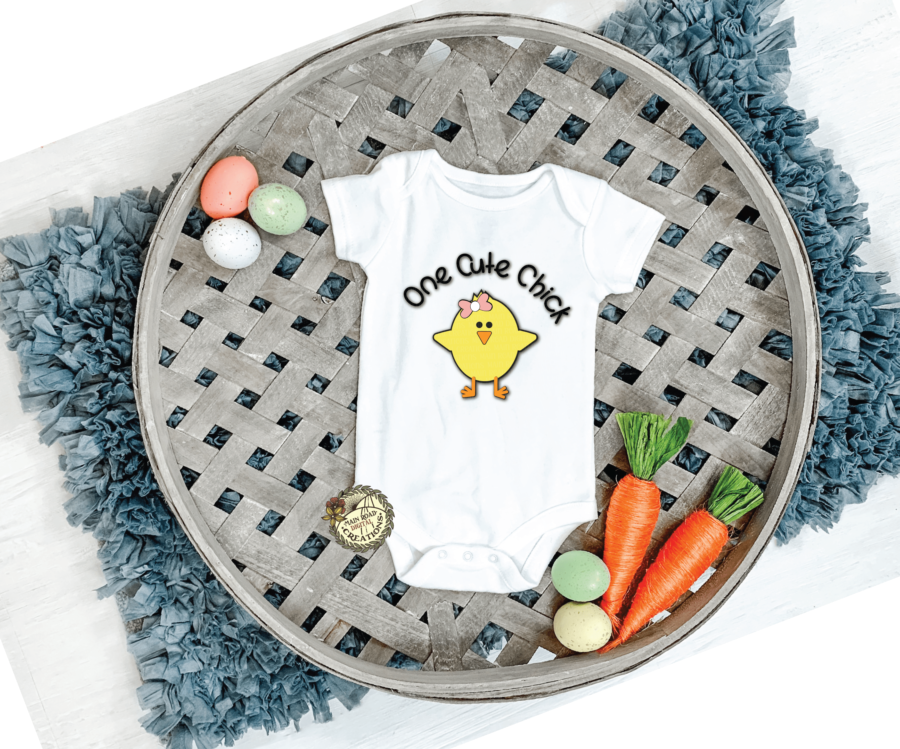 free one cute chick svg on onesie