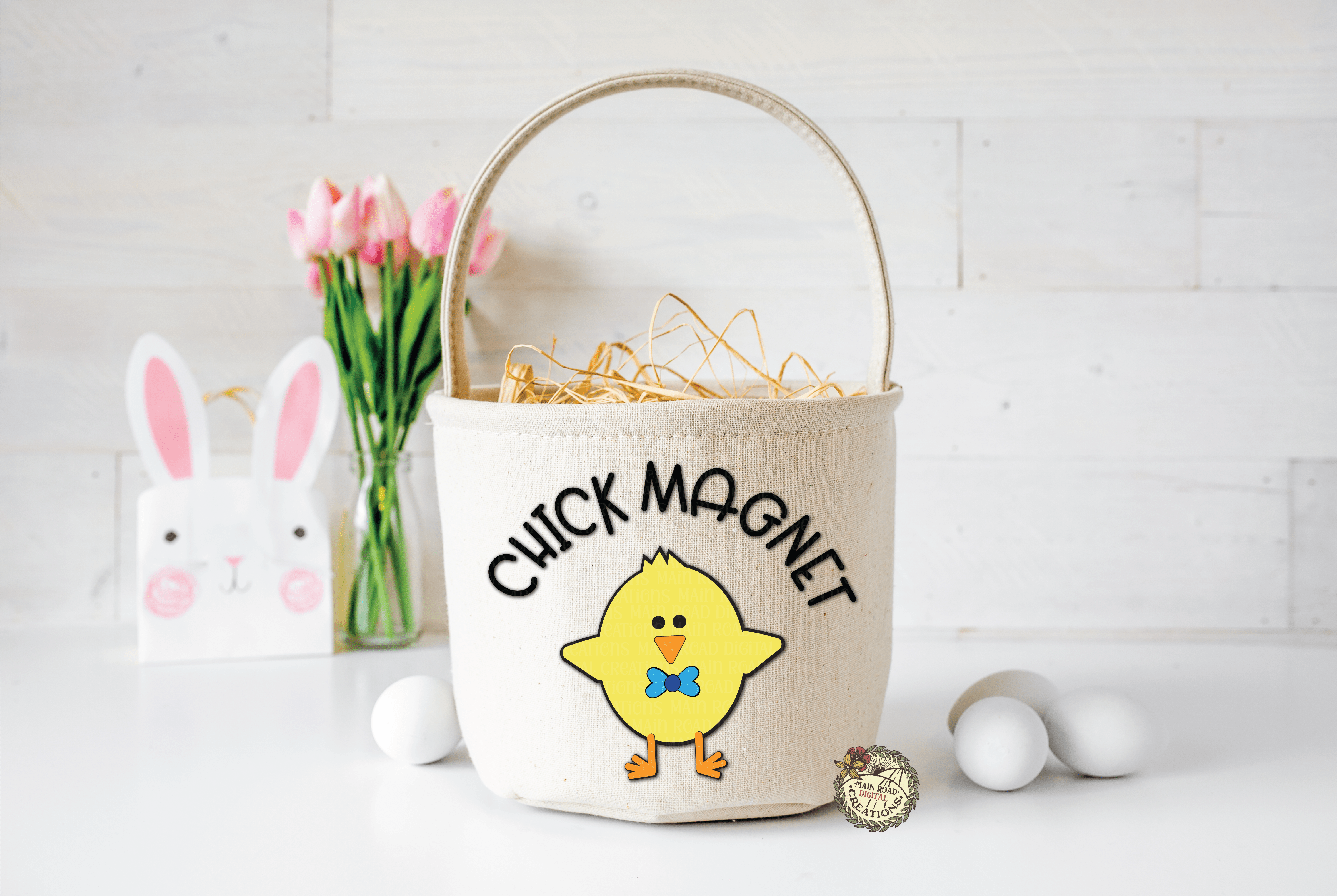 Chick Magnet Basket example with free svg