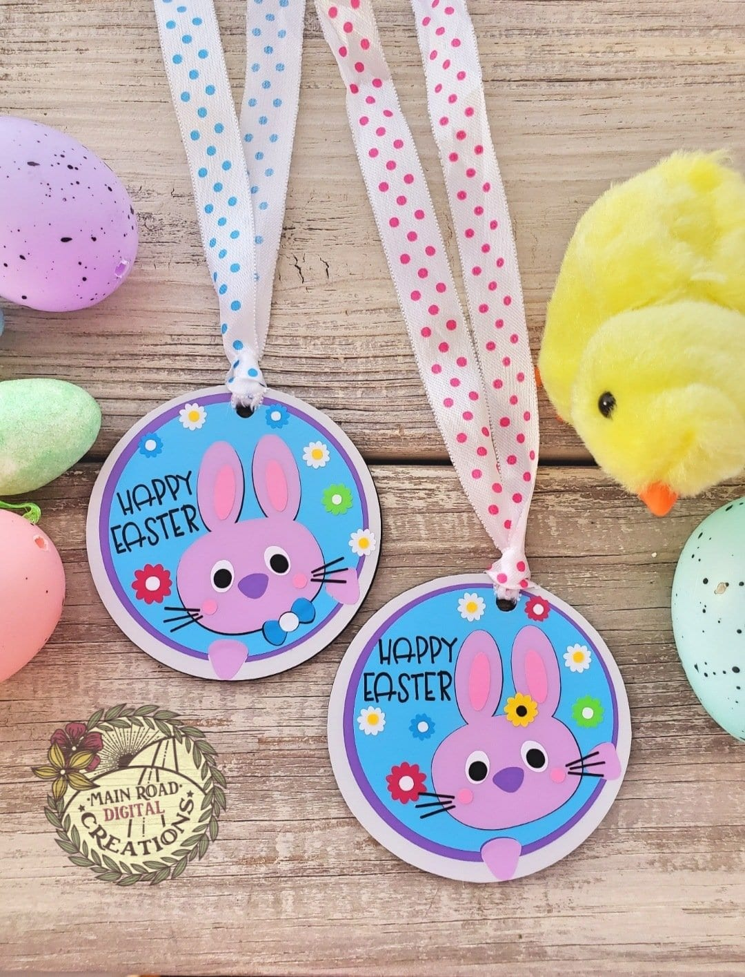 Easter Tags with ribbons