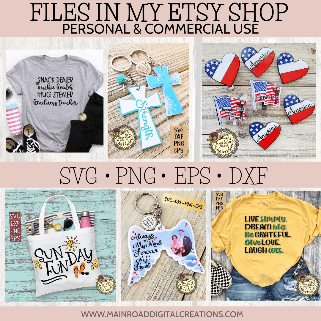 examples of svg files in my Etsy shop