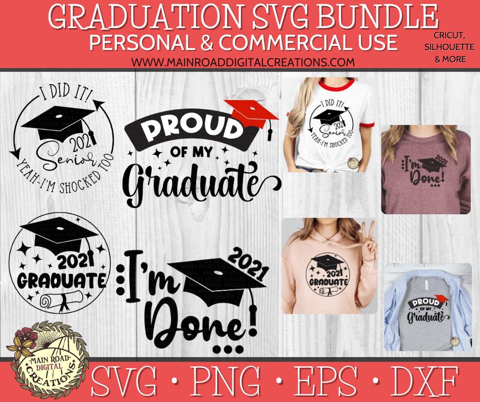 graduation svg bundle on etsy