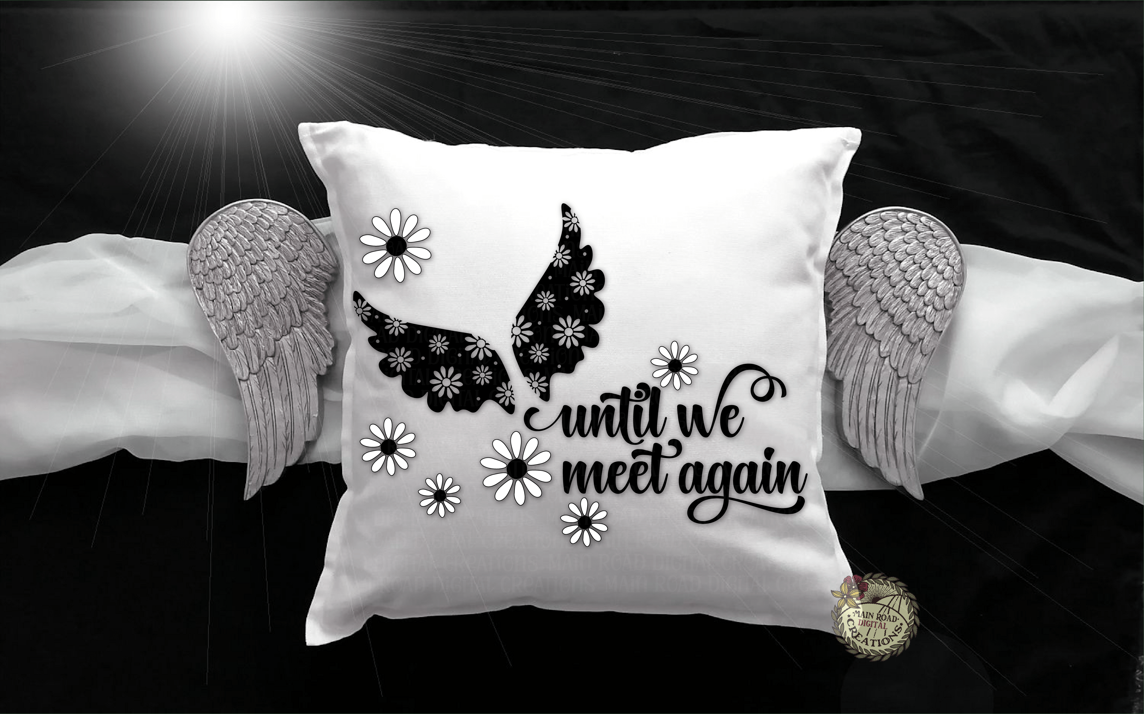 free memorial svg on pillow
