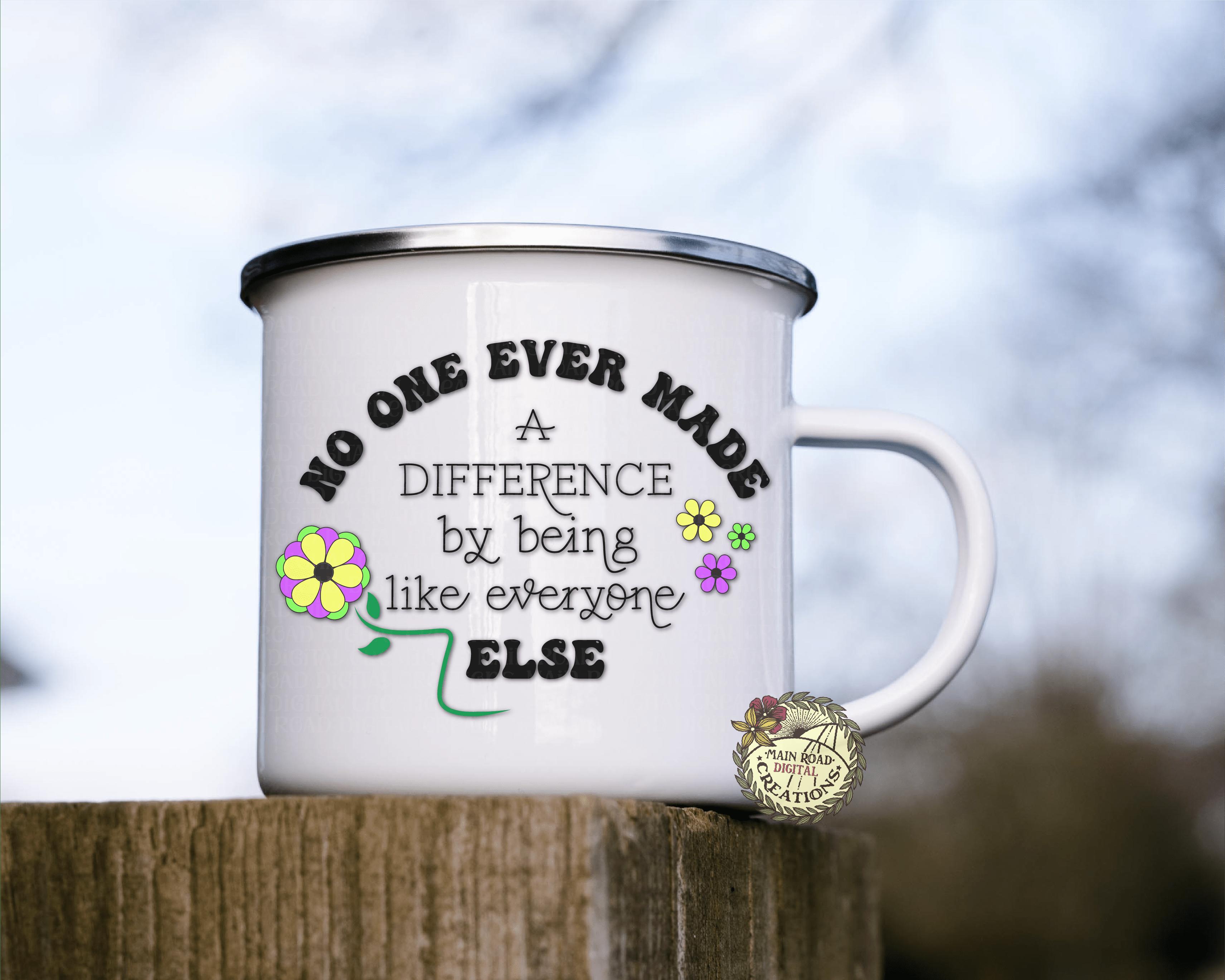 free difference maker svg on coffee mug