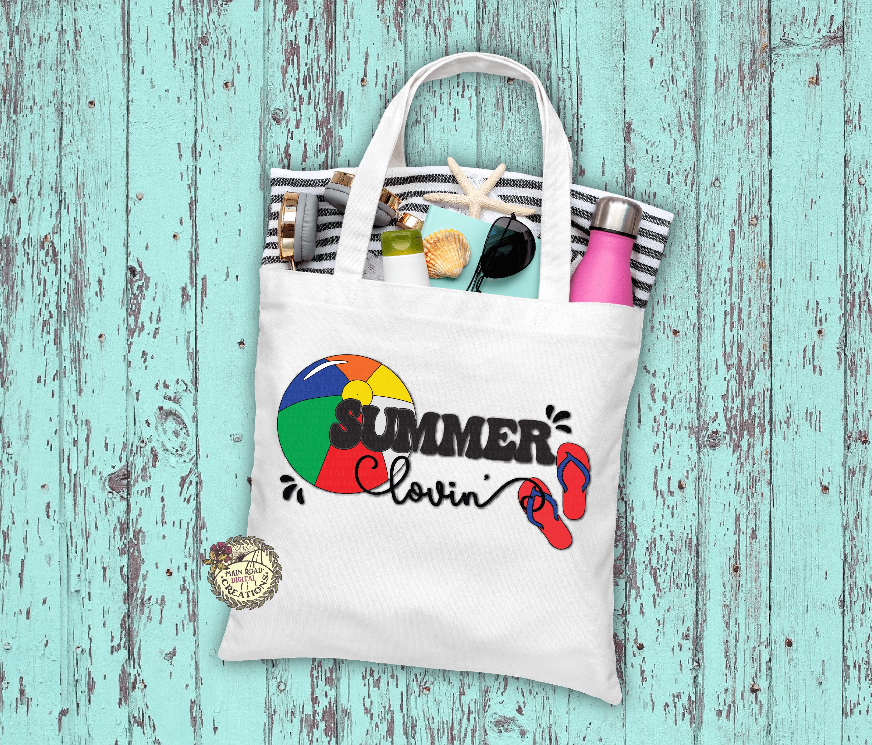 free summer lovin svg, summer lovin beach bag, free beach ball svg, free flip flops svg, free summer cut file