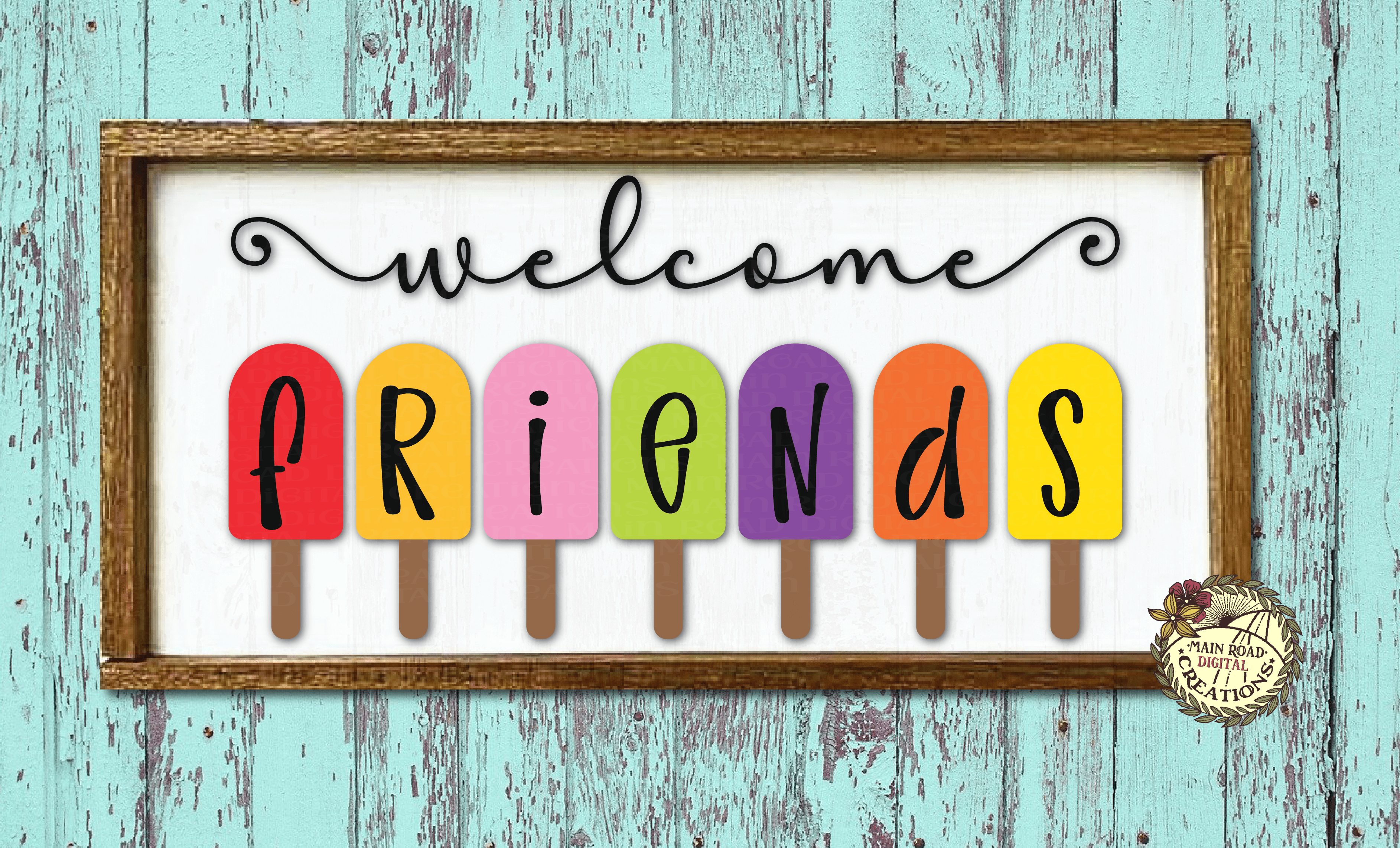 free welcome friends svg, popsicle svg free, popsicle clipart free, welcome sign svg free, friends svg, front porch sign svg, free sign svg, free summer svg