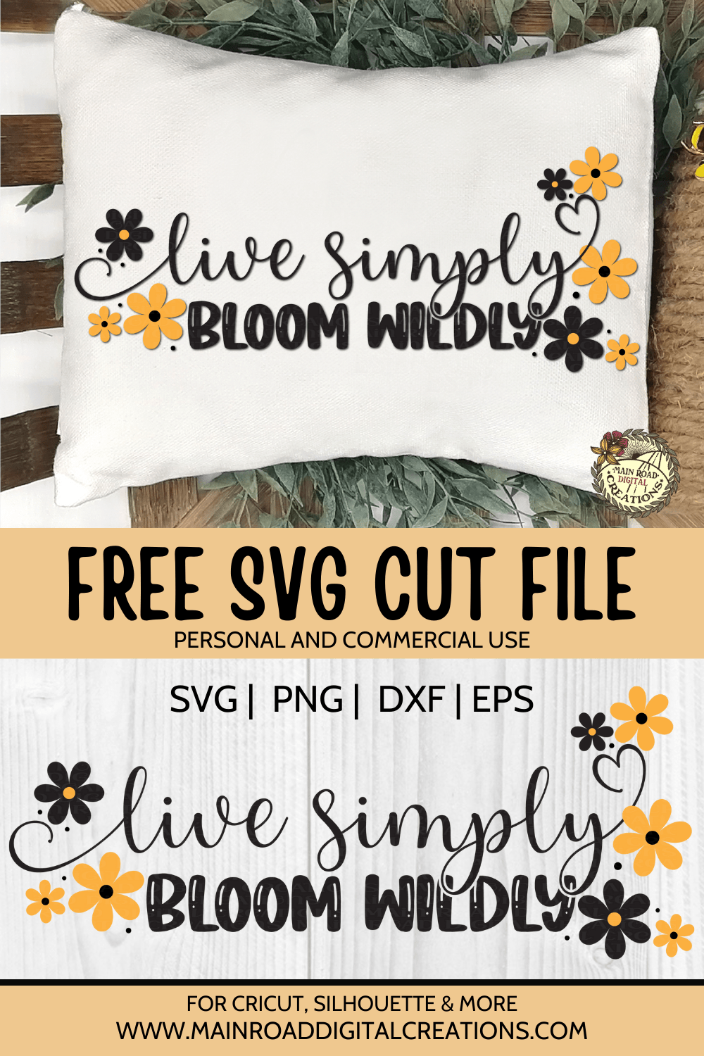 live simply bloom wildly free svg, flower cut file free, cricut cut files, svg files free