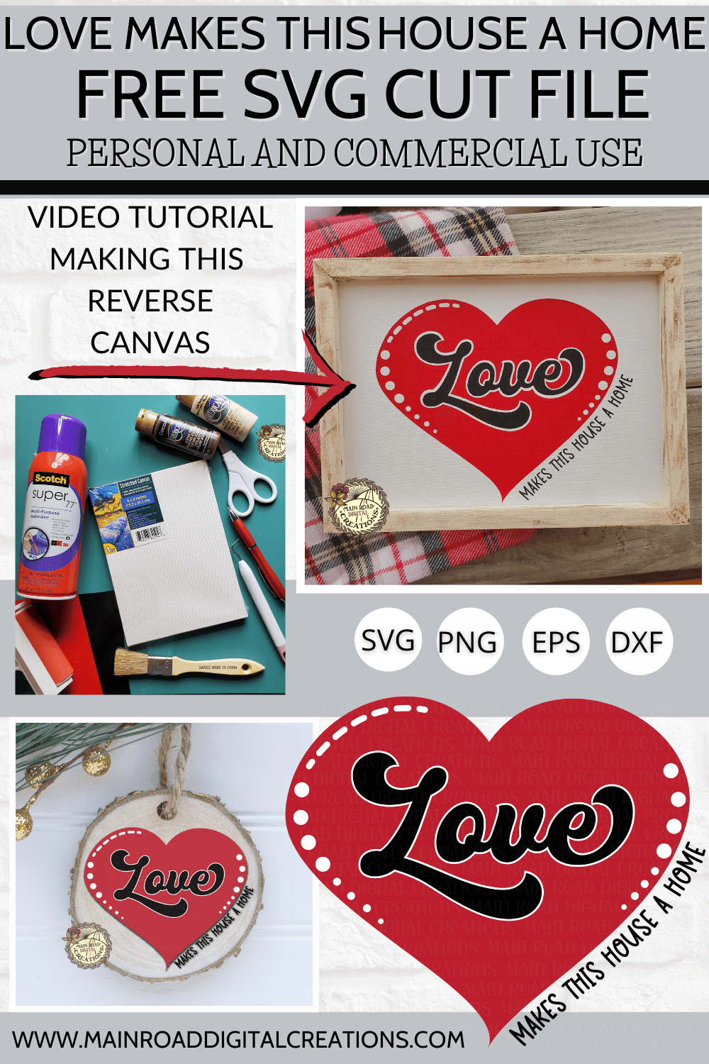 free svg, cricut craft tutorial, design space tutorial making a reverse canvas, free love makes this house a home cut file, dollar tree crafts, ornament svg ideas, free ornament svg, svg for new home free