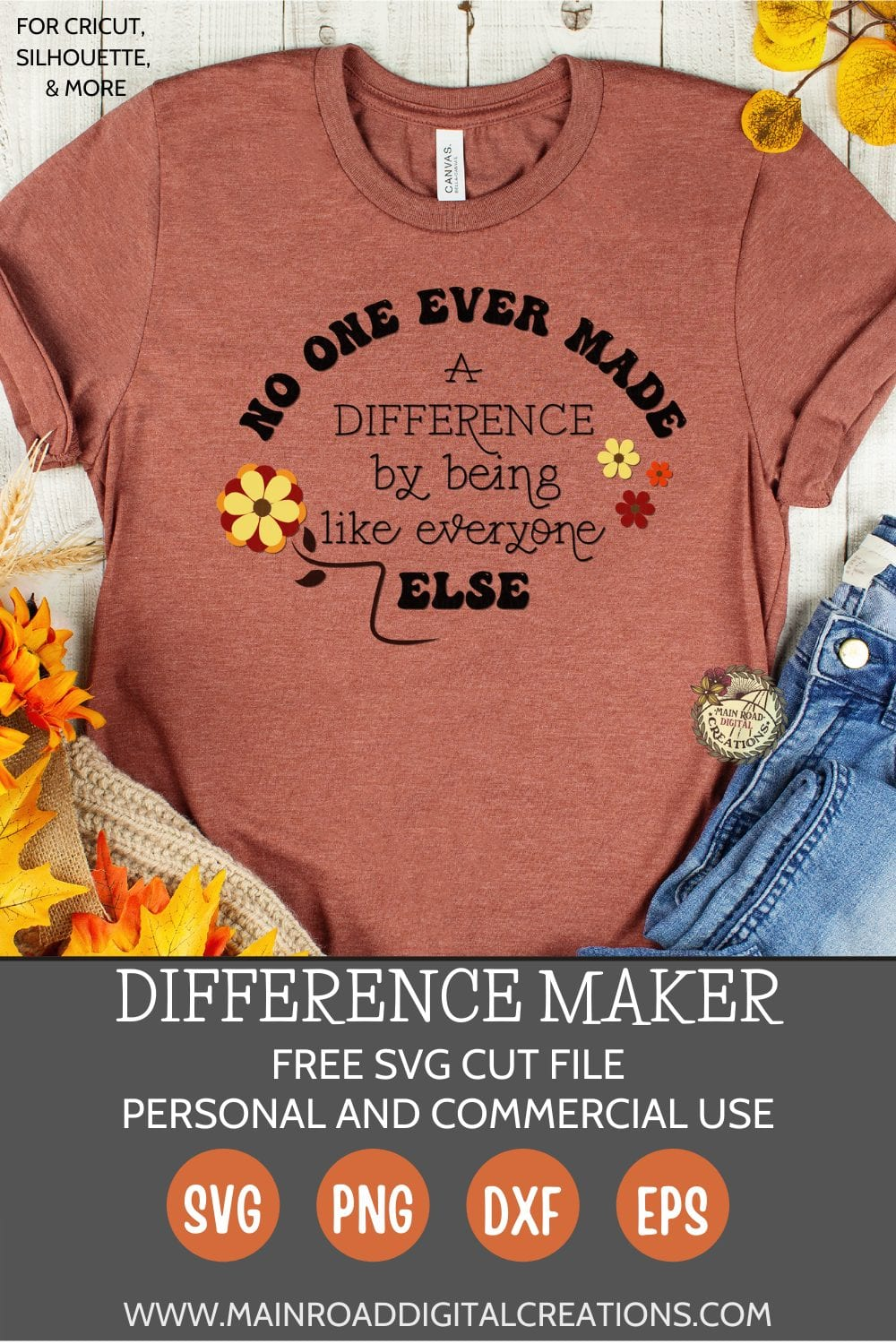 difference maker quote, be you quote, difference maker svg, flower svg, motivational qutoe