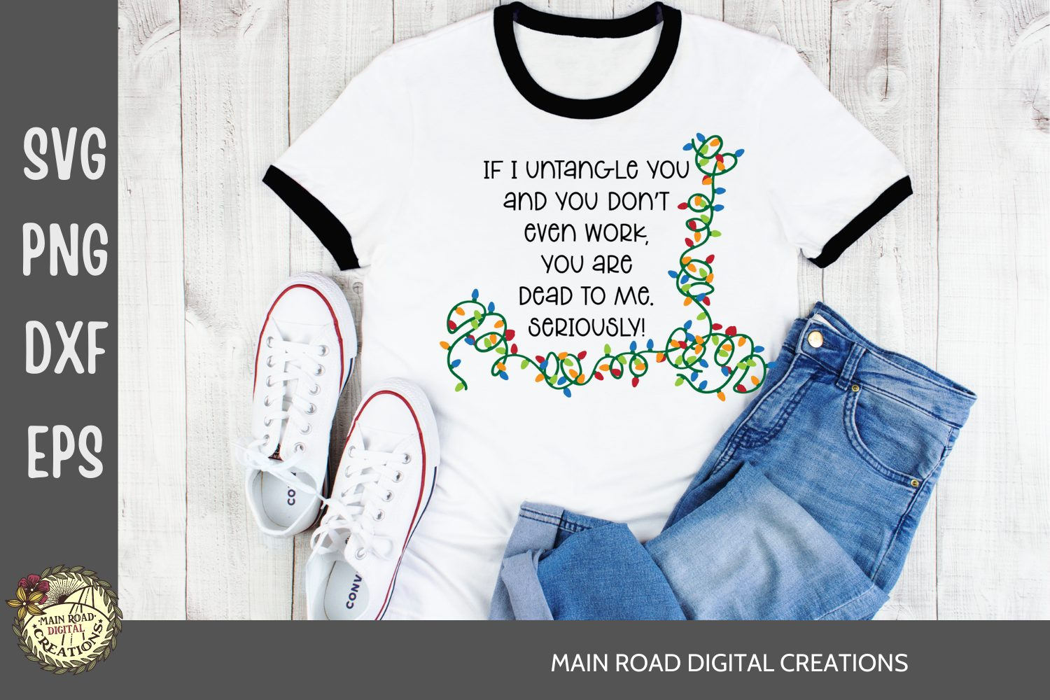 christmas svg, tangled christmas lights cut file, funny christmas quotes, vinyl crafts, cricut projects, design bundles