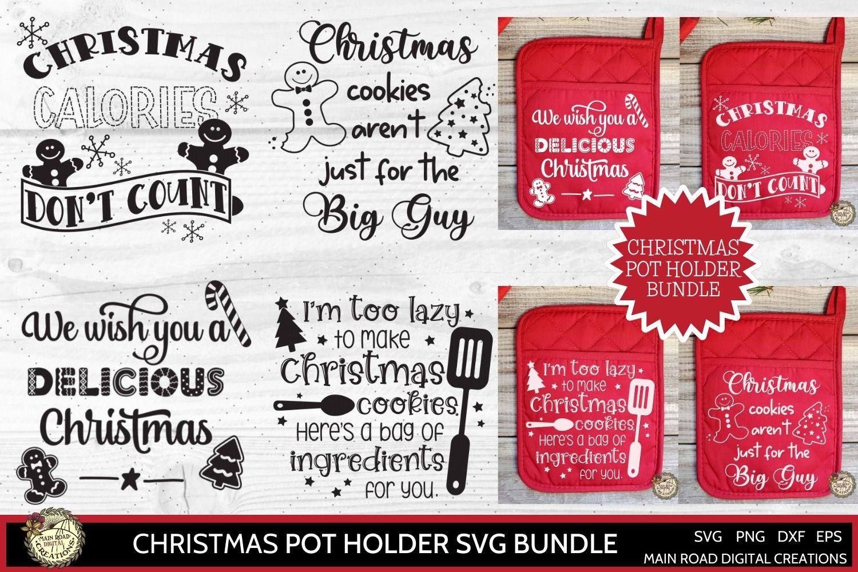 design bundles, christmas pot holder designs, christmas svg, pot holder designs for Christmas