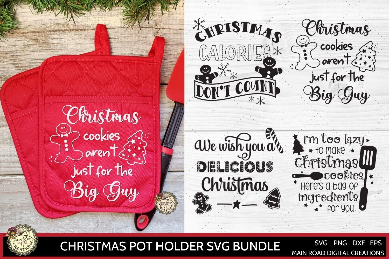 Christmas pot holder svg, funny Christmas quote, Design Bundles Shop, Pot holder svg