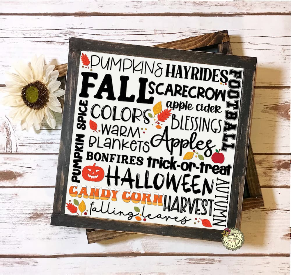Subway Art, Fall Subway Art SVG, Subway Art SVG free, fall crafting, fall quotes, autumn quotes, candy corn, leaf svg, fall clipart