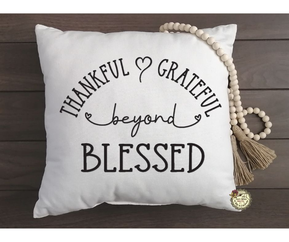thankful quote, free thankful grateful blessed svg, blessed quote, blessed quote svg free, cricut cut file free