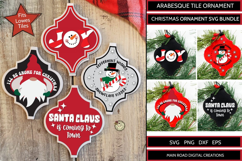 arabesque ornament svg, design bundles, joy ornament, Christmas svg ornaments, Christmas gnome SVG, Christmas ornament designs, cricut cut files for Christmas, SVG designs for lowes tiles, holiday cut files, Cricut cut files for ornaments