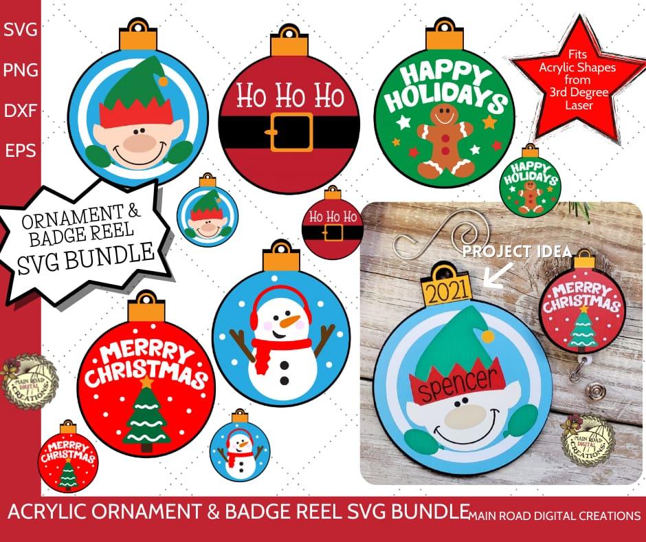 acrylic shape svg designs, acrylic ornament designs, badge reel designs, Etsy Shop