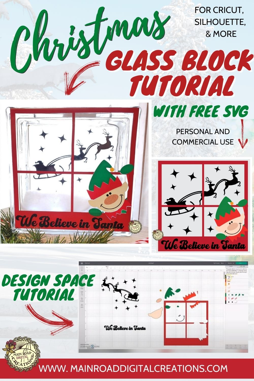 Glass Block tutorial, Christmas glass block SVG, Christmas glass block design, Free glass block svg, Cricut tutorial, Glass block tutorial, Learn how to make a glass block, decorate a glass block