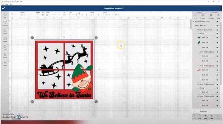 Design space tutorial, Glass Block Free Christmas SVG, Christmas design for glass block